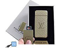 """USB зажигалка в подарочной упаковке """"Louis Vuitton"""" (спираль накаливания)"""