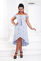Платье летнее  батальное ат 224 гл, фото 1