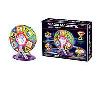 Магнитный конструктор MAGIC MAGNETIC Магнитный набор для конструирования с LED подсветкой, 72 эл. (SUN0188)