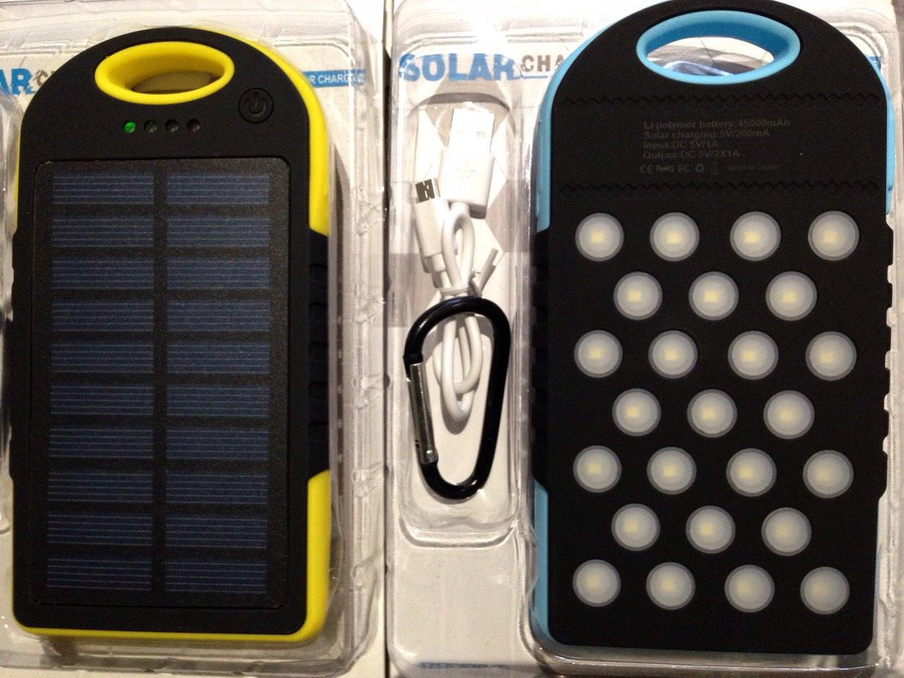 Водонепроницаемый Power Bank 45000 мА Солнечная батарея и Лампа 25 LED