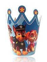 """Корона картонная детская """"Щенячий патруль"""" 10 штук"""