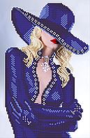 Схема для вышивки бисером Блондинка (индиго), фото 1