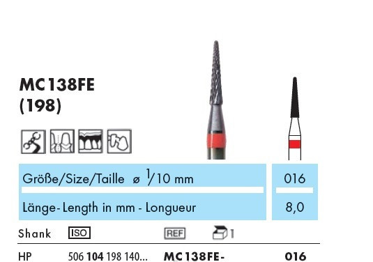 MC138FE-016 Фреза с сверхтвердым поверхностным слоем