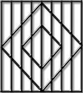 Решётки на окна «Эконом» (квадрат 10)
