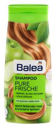Шампунь Balea Pure Frische для жирных волос и сухих кончиков яблоко 300мл, фото 2