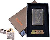 """USB зажигалка в подарочной упаковке """"MAKE"""" (спираль накаливания)"""