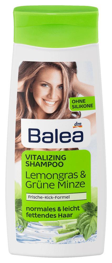 Шампунь Balea для жирных волос лимонная трава и мята 300мл