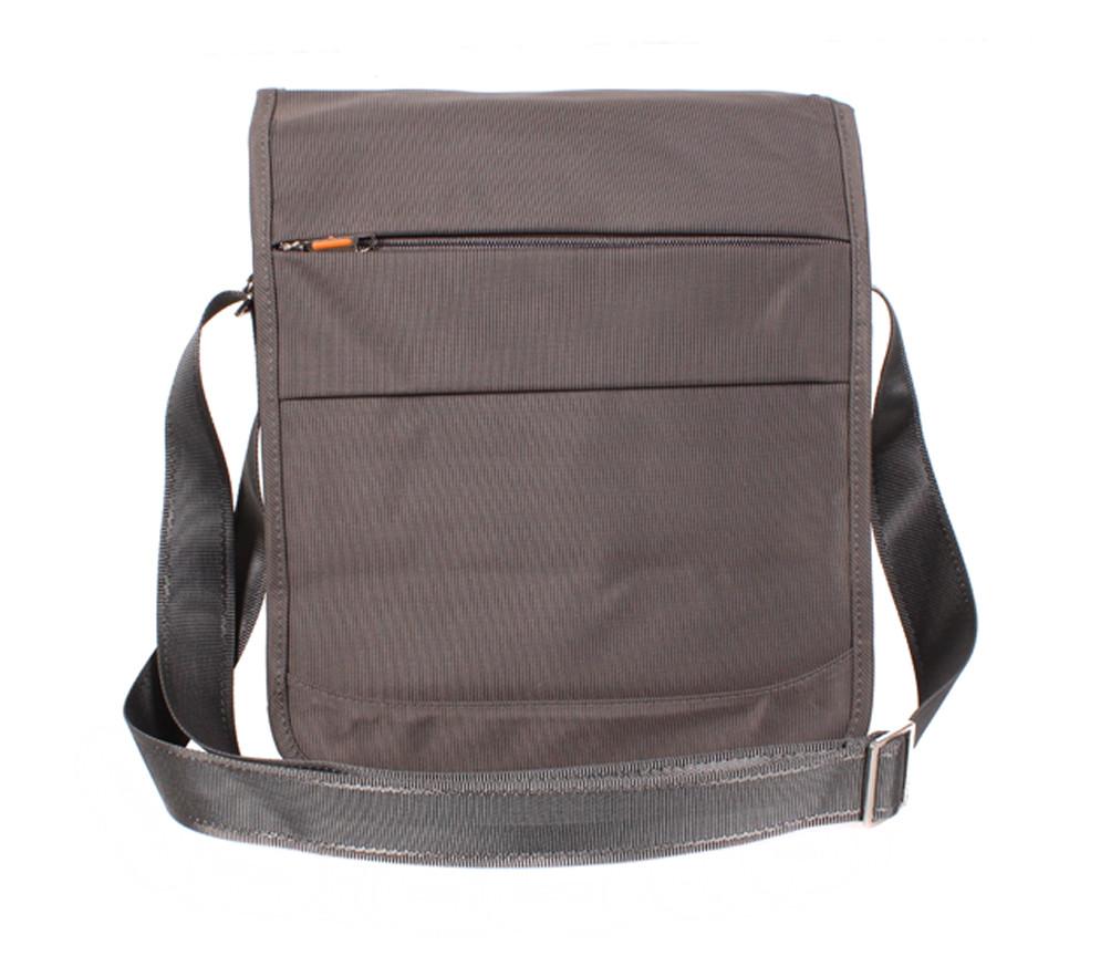 Вертикальная мужская тканевая сумка формата А4 NL8311-2A серо-коричнев