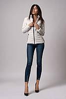 Женская демисезонная куртка. Код модели К-66-37-20 Б. Цвет молочный.