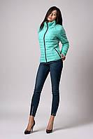 Женская демисезонная куртка. Код модели К-66-37-20 Б. Цвет бирюза.
