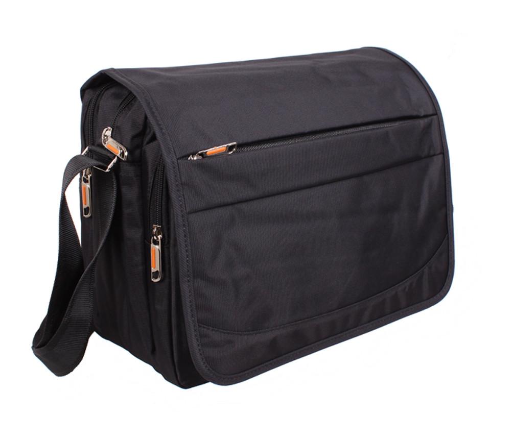 Горизонтальная мужская тканевая сумка формата А4 NL8311-1B черная