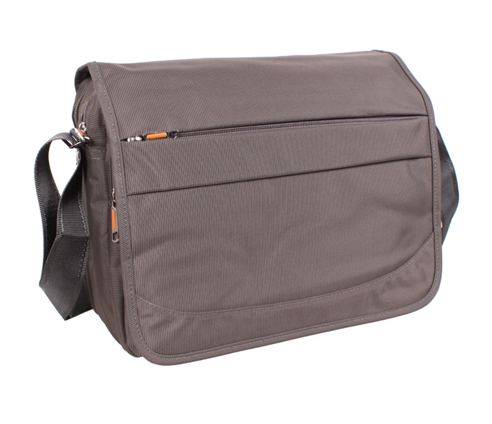 dbbaed0c1b64 Горизонтальная мужская тканевая сумка формата А4 серо-коричневая NL8311-2B  - АксМаркет в Киеве