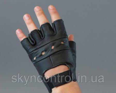 Рукавички шкіряні без пальців, фото 2
