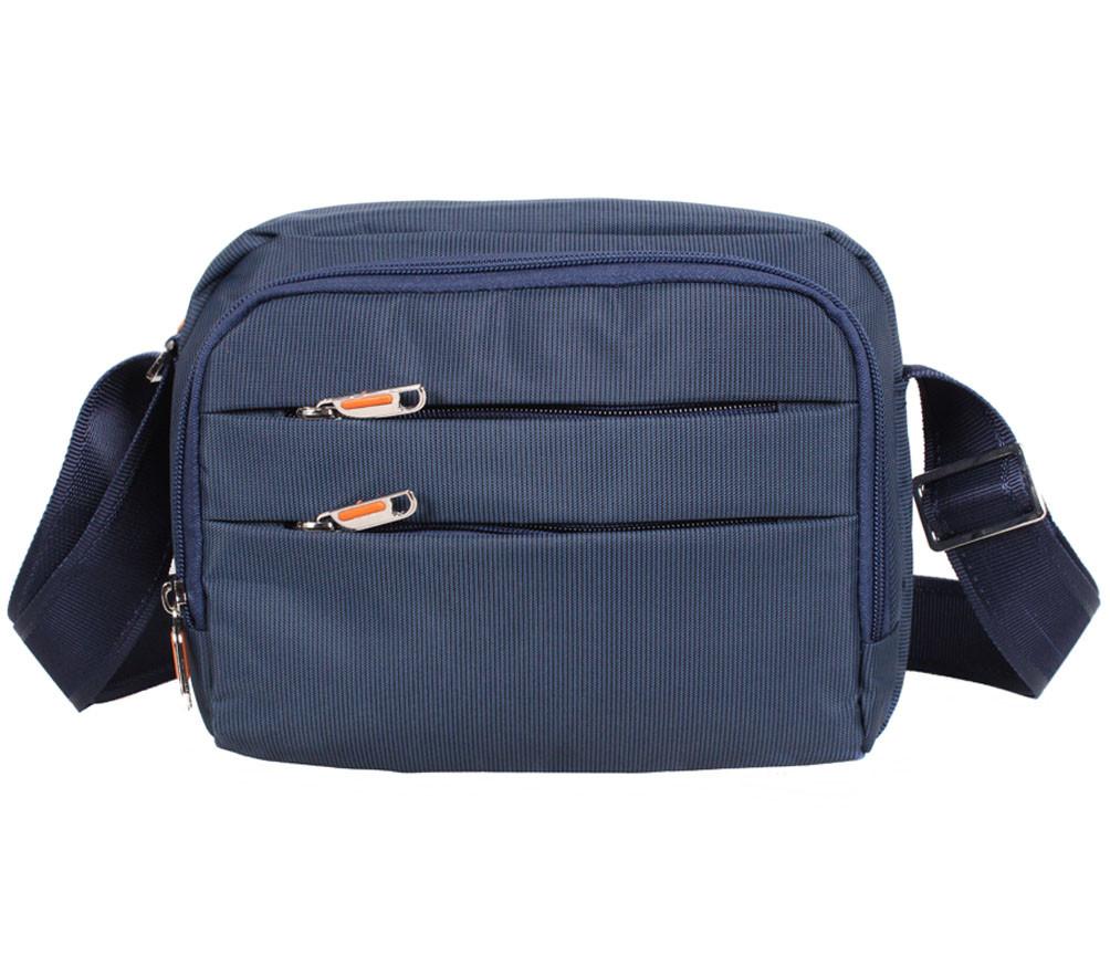 e7965008f68f Мужская тканевая сумка через плечо горизонтального типа NL6338-24 синяя -  АксМаркет в Киеве