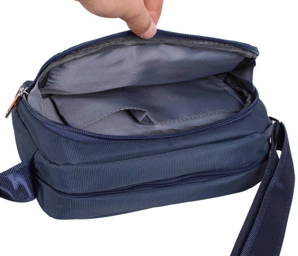 2e101cc4ddac Мужская тканевая сумка через плечо горизонтального типа NL6338-24 синяя,  цена 470 грн., купить в Киеве — Prom.ua (ID#675234865)