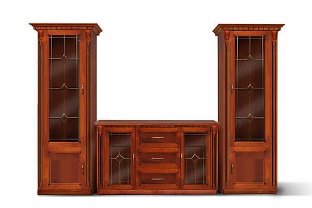 Гостиная Freedom с комодом 2Д3Ш орех/патина (Микс-мебель ТМ), фото 2
