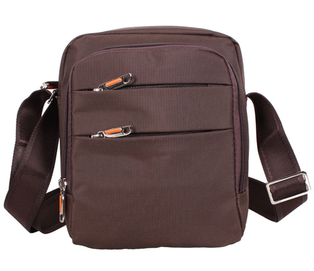 Мужская тканевая сумка через плечо NL6339-23 коричневая