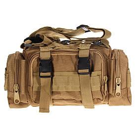 Тактическая универсальная (поясная, наплечная) сумка Silver Knight с системой M.O.L.L.E Coyote песок (105)
