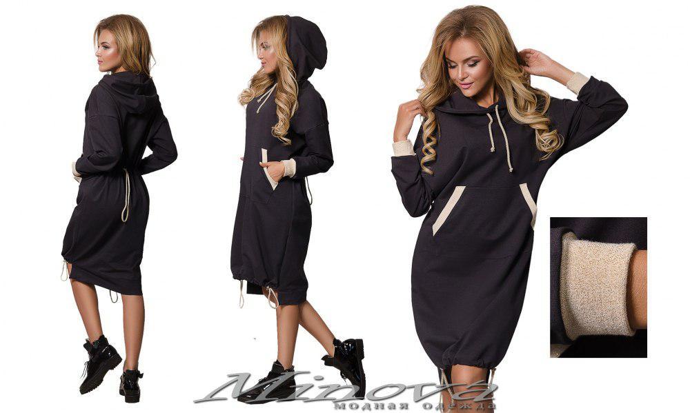 Платье №5027.23н-серый