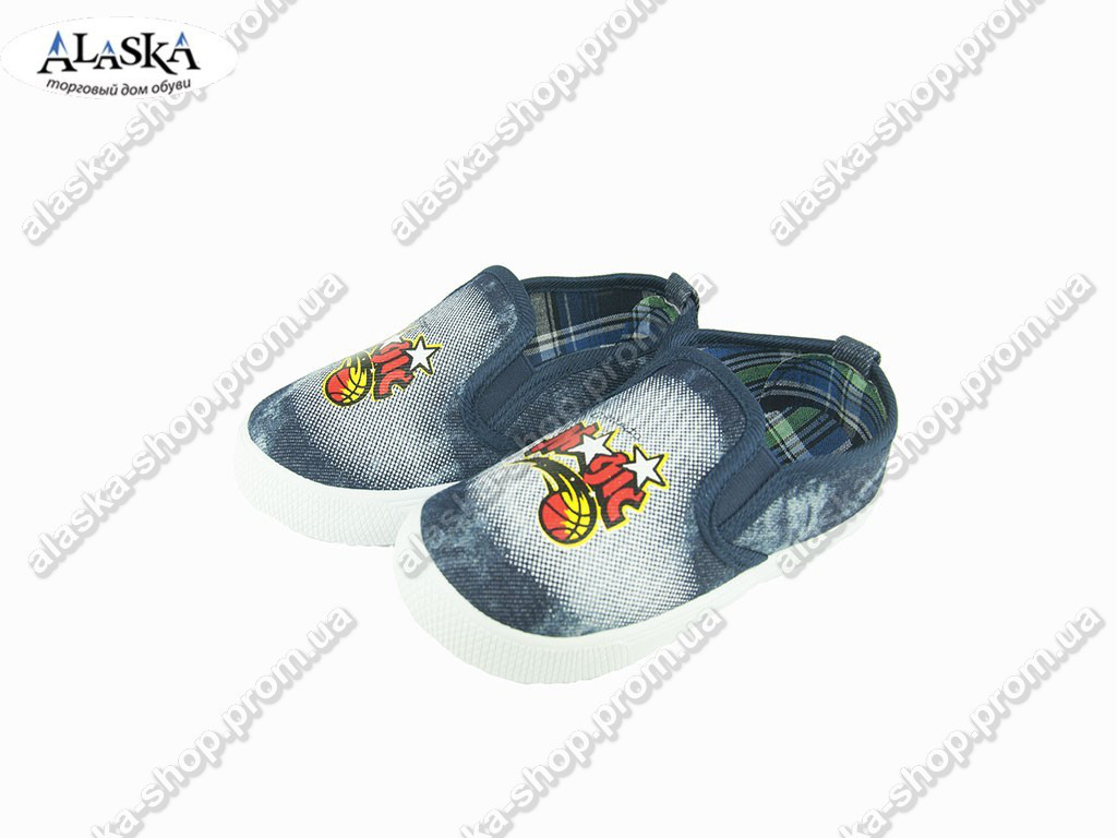 Детские мокасины джинсовые (Код: 530-23 )