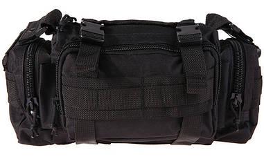 Тактическая универсальная (поясная, наплечная) сумка Silver Knight с системой M.O.L.L.E Black (105)
