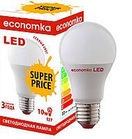 Светодиодная лампа Economka SUPER PRICE LED А60 10W Е27 2800K. Опт от 100шт