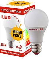 Светодиодная лампа Economka SUPER PRICE LED А60 10W Е27 4200К. Опт от 100шт