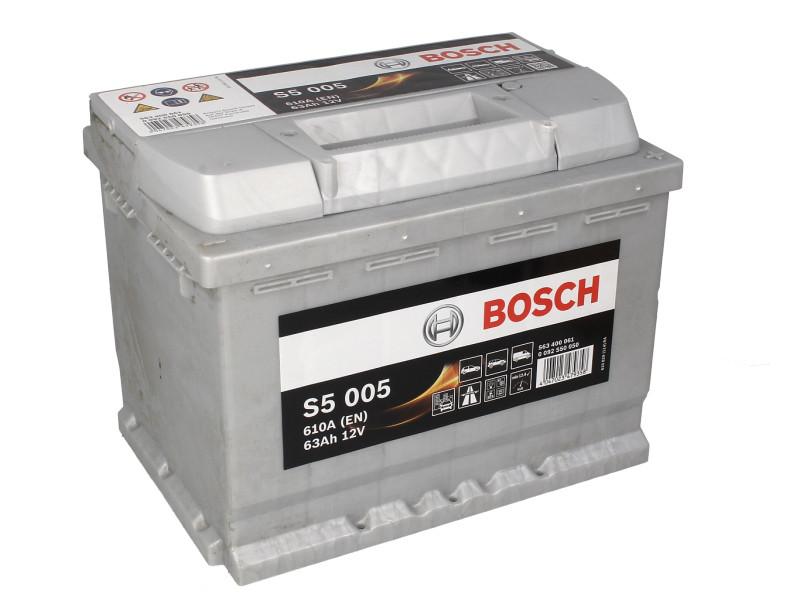 Аккумулятор Bosch S5 63Ah EN610A R+ (S5005)