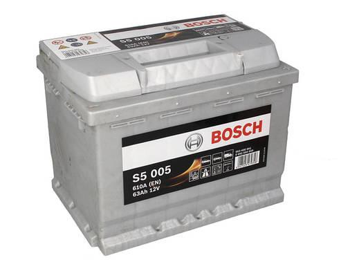 Аккумулятор Bosch S5 63Ah EN610A R+ (S5005), фото 2