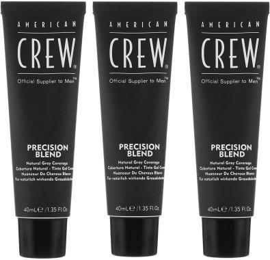 Система маскировки седины (уровень 2-3 ) American Crew Dark Precision Blend Dark, 3 х 40 мл