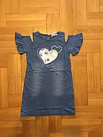 Джинсовое платье для девочек 116/146 см