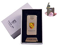 """USB зажигалка в подарочной упаковке """"Porsche"""" (Двухсторонняя спираль накаливания)"""