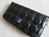 Модный кошелёк Chanel экокожа черный (реплика)
