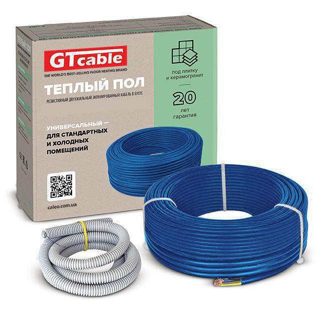 Тепла підлога в стяжку під ламінат, кахель 7,7-10 м. кв. двожильний кабель GTcable 1300 Вт. пр-ва Корея