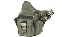 Тактическая - городская универсальная сумка Silver Knight с системой M.O.L.L.E Olive (865)