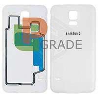 Задняя крышка Samsung G900H Galaxy S5/i9600, белая, Shimmery White