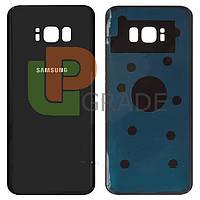 Задняя крышка Samsung G955F Galaxy S8 Plus (2017), черная, Midnight Black, оригинал (Китай)
