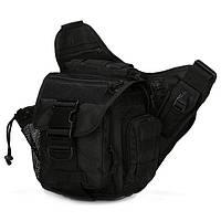 Тактическая - городская универсальная сумка Silver Knight с системой M.O.L.L.E Black (865)