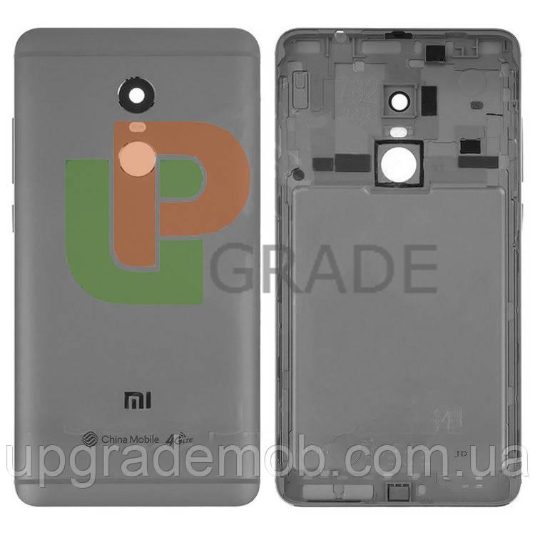 Задня кришка Xiaomi Redmi Note 4, MediaTek, срібляста, оригінал