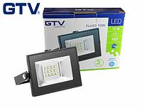 Светодиодный прожектор LED, GTV, 10W, IP65 (для улицы). Гарантия - 3 года!!!