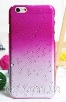 Малиновый чехол с эффектом росы для Iphone 6/6S