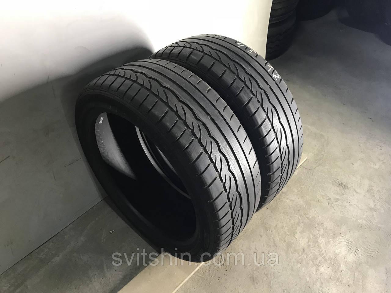 Шины бу лето 205/45R17 Dunlop SP Sport 01 пара 4мм