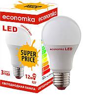 Светодиодная лампа Economka  LED Super Price 12W Е27-2800К. Опт от 100шт