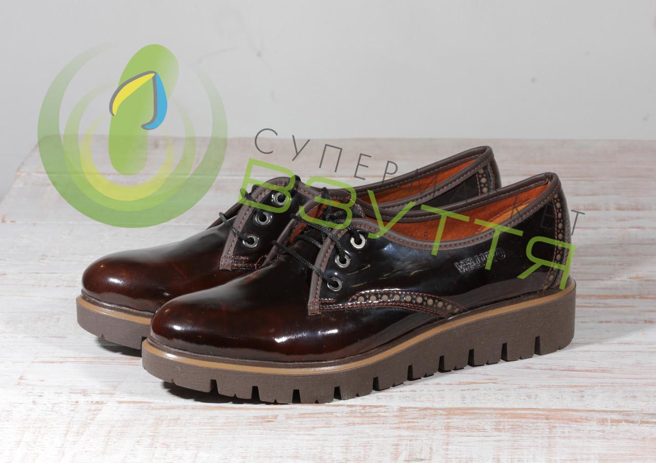 Кожаные лаковые женские туфли Maximoda 96к  38 размер