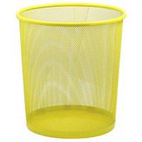 Корзина для бумаг Металл Сетка круглая Д295мм ZiBi ZB.3126_Желтый