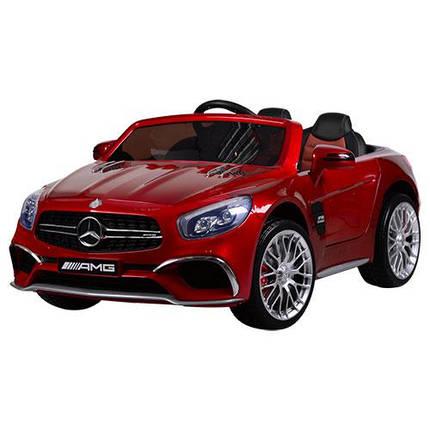 Детский электромобиль Mercedes вишневый M 3583, фото 2