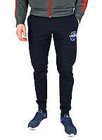 Темно-синие мужские спортивные трикотажные штаны с манжетами LACOSTE, фото 1