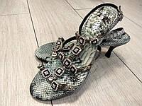 Красивые босоножки на каблуке со стразами Almelyno 36 размер, фото 1