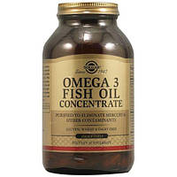 Концентрат рыбьего жира Омега-3, Solgar Omega-3 Fish Oil Concentrate 120 капсул