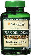 Специальные препараты Puritan's Pride Flax Oil 1000 mg 120 gel caps